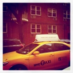 even the cabs wear marc jacobs in nyc