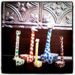 the family of giraffes that live in our kitchen